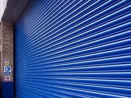 blue roller shutters